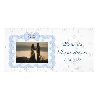 Icy Snowflake Celebration Card
