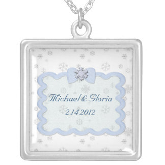 Icy Snowflake Celebration Silver Plated Necklace