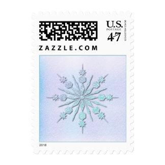 Icy Snowflake Postage Stamp