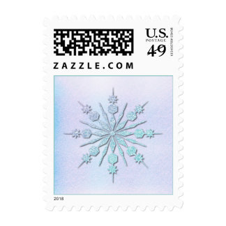 Icy Snowflake Postage Stamp