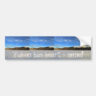 Icy Splendor; Yukon Territory Souvenir Bumper Stickers