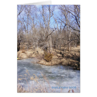 Icy Stream1 Greeting Cards