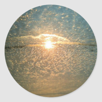Icy Sunrise Classic Round Sticker