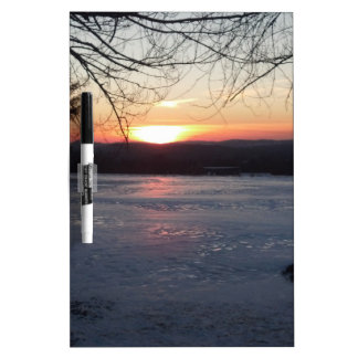 Icy Sunset Dry-Erase Board