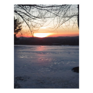 Icy Sunset Letterhead