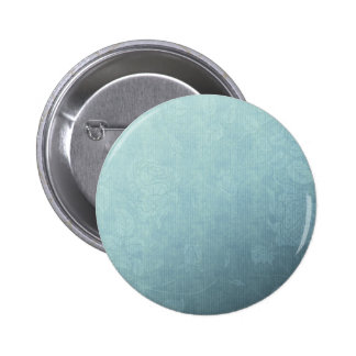 Icy Teal & Blue Winter Rose Button