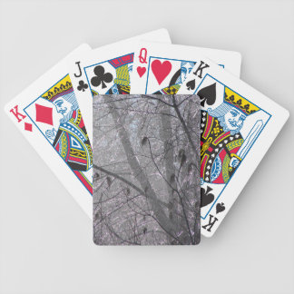 Icy Trees Bicycle Playing Cards