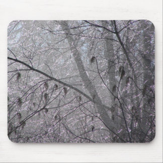 Icy Trees Mouse Pad