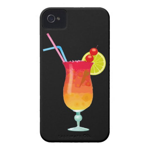 Icy Tropical Rum Punch iPhone 4 Covers