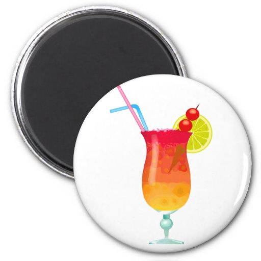 Icy Tropical Rum Punch Magnets