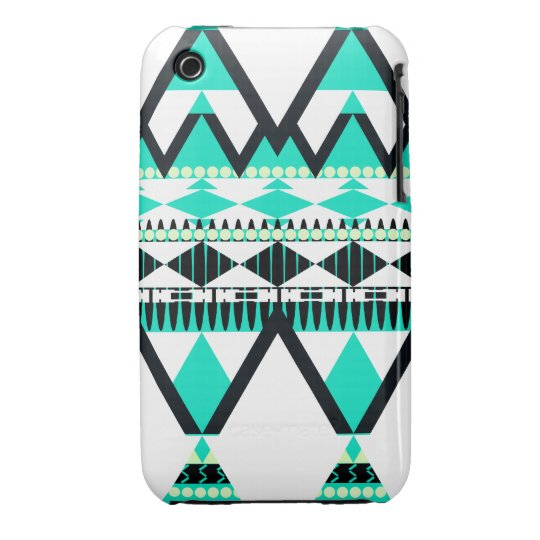 Icy Turquoise Tribal iPhone 3 Cover