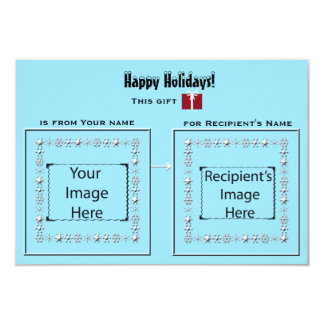 """Icy Visual Cues Card for gifts 3.5"""" X 5"""" Invitation Card"""