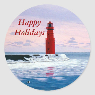 Icy Waters Happy Holiday Sticker