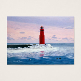 Icy Waters Lighthouse Art Card