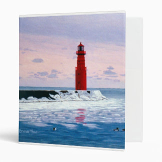 Icy Waters Lighthouse Avery Binder