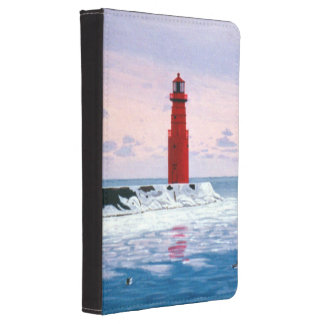Icy Waters Lighthouse Kindle 4 Case