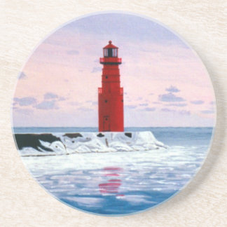 Icy Waters Lighthouse Coasters