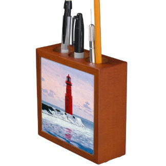 Icy Waters Lighthouse Desk Organizer