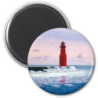 Icy Waters Lighthouse Magnet