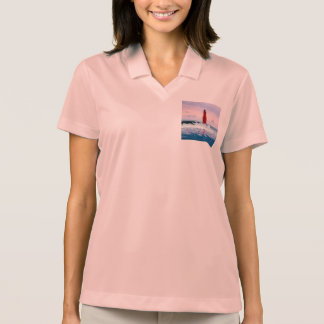 Icy Waters Lighthouse Polo Shirt