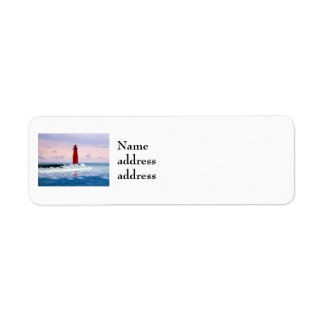 Icy Waters Lighthouse Return Address Labels