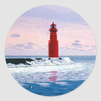 Icy Waters Lighthouse Sticker