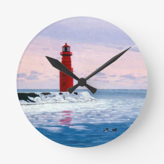 Icy Waters Wall Clock