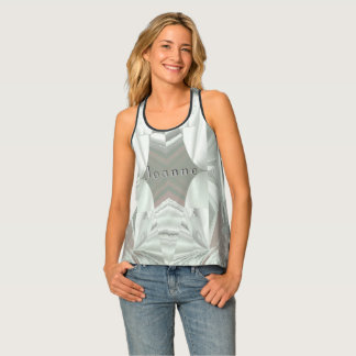 Icy White on Pink with Your Name Tank Top