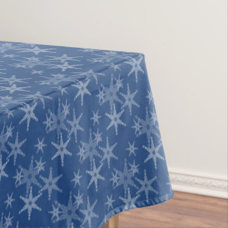 Captivating Icy White Snowflakes Tablecloth