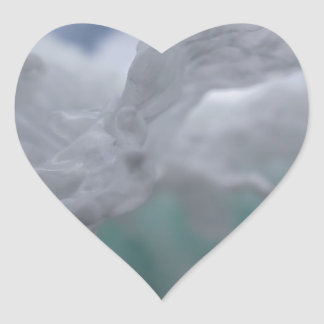 Icy Winter Heart Sticker