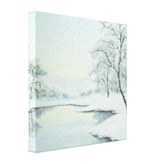 Icy Winter Landscape Canvas Print