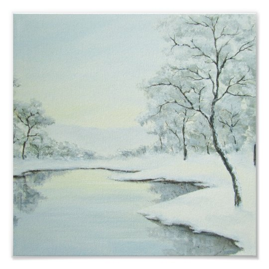 Icy Winter Landscape Fine Art Print
