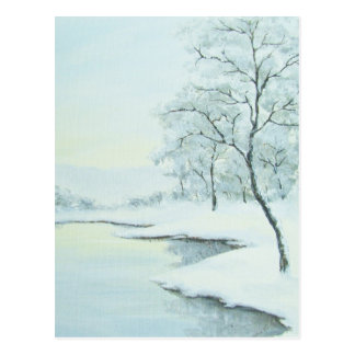 Icy Winter Landscape Postcard