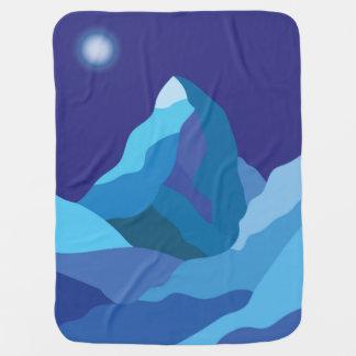 Icy winter Matterhorn mountain Swaddle Blanket