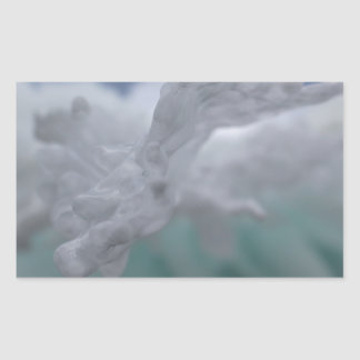 Icy Winter Rectangular Sticker