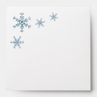 Icy Winter Snowflake Bridal Shower Envelope
