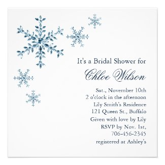 Icy Winter Snowflake Bridal Shower Invitation