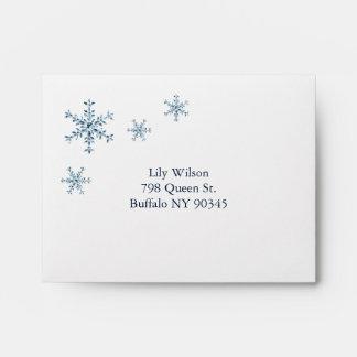 Icy Winter Snowflake RSVP Envelope