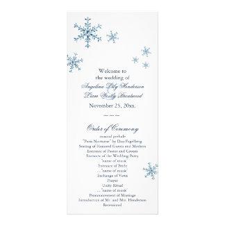 Icy Winter Snowflake Small Wedding Program