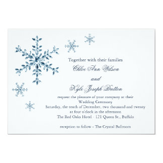Icy Winter Snowflake Wedding Invitation