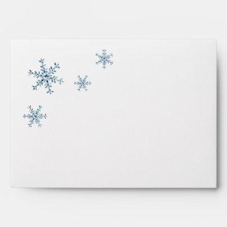 Icy Winter Snowflake Wedding Invite Envelope