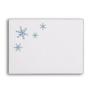 Icy Winter Snowflake Wedding Invite Envelope