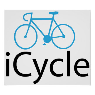 iCycle blue bike Poster