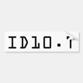 ID10.T bumper sticker