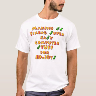 ID10T (Mickie lettering) T-Shirt