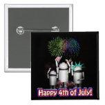 ID-4 - Robox9 & Family Celebrate Freedom 2 Inch Square Button