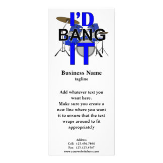 I'd Bang It Rack Card