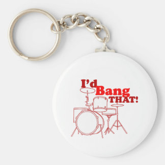 I'd Bang That! Basic Round Button Keychain