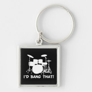 Id Bang That Silver-Colored Square Keychain
