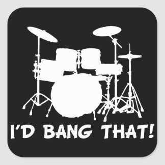 Id Bang That Square Sticker